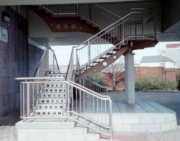 External Stainless steel staircase